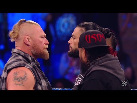Brock Lesnar confronts and attacks Roman Reigns and Paul Heyman - WWE Smackdown 9/10/21