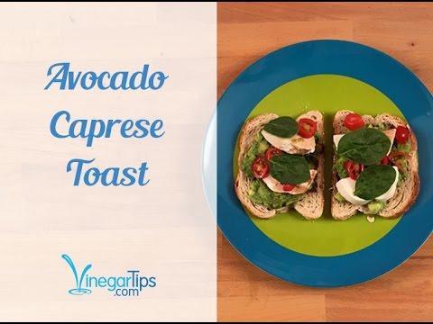 Avocado Caprese Toast