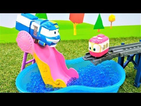 Мультфильм Роботы-поезда — Детям про машинки и железную дорогу (видео)