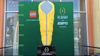LEGO® Model Time Lapse - College Football Playoff National Championship Trophy #LEGOCollegeFootball