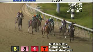 Mister Nofty wins open Allowance Penn Nat 7 Wire to Wire Sept 9 2017