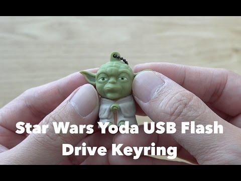 Star Wars Yoda 8GB USB Flash Drive Keyring Unboxing