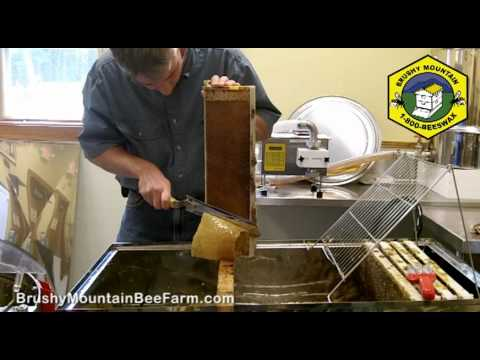 Uncapping a Frame of Honey with a Cold Knife