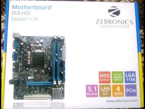 Informational  Zebronics H55 LGA Socket 1156 motherboard video in hindi