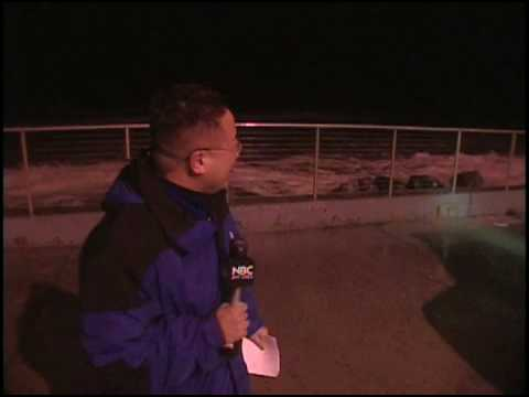 TV News Reporter gets hit by a wave at Pacifica owned blooper wcolby
