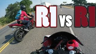 6. 2009 Yamaha R1 vs 2005 R1 RACE - 150mph+