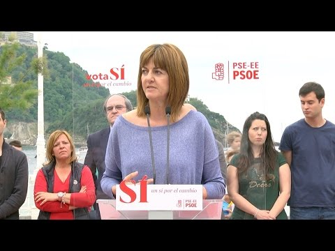 Idoia Mendia en Donostia con Ángel Gabilondo #26J