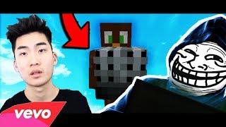 MINECRAFT PLAYER MAKES DISSTRACK ON RICEGUM! (Minecraft Trolling)