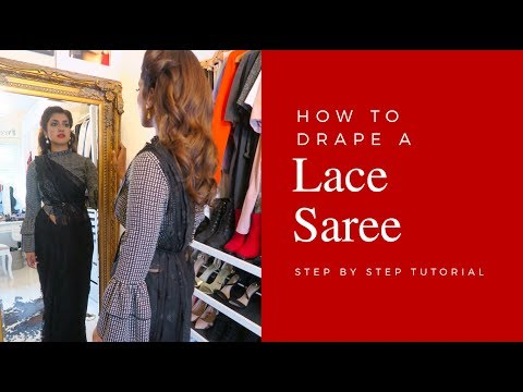 How to drape a Lace Saree | Vithya Hair and Makeup Artist