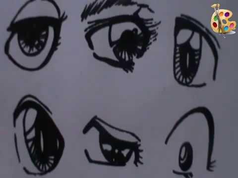 تعليم رسم عيون الانمي و المنغا
