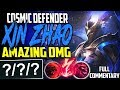 TOP LANE COSMIC DEFENDER XIN ZHAO | THIS DAMAGE IS AMAZING | Xin'Zhao vs Nasus TOP | S8 PBE Gameplay