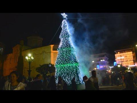 'Αργος: Φωταγώγηση της πόλης και του χριστουγεννιάτικου δέντρου