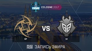 NiP vs G2 - ESL One Cologne 2017 - de_cache [yXo, Enkanis]