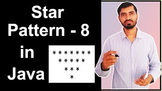 Star Pattern - 8 Program (Logic) in Java by Deepak