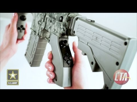 New Elite Force Guns - Now available for purchase online at gamestop.com: http://goo.gl/4afwG The U.S. Army™ Elite Force Assault Rifle Controller designed by CTA Digital for PlaySt...