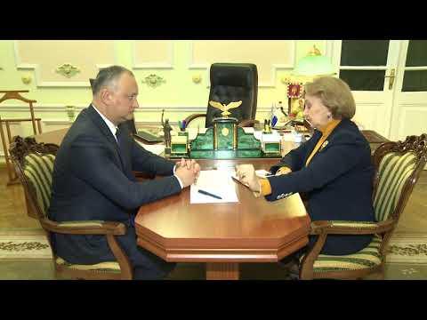 Președintele Igor Dodon a avut o întrevedere cu Zinaida Greaceanîi, președintele Partidului Socialiștilor din Republica Moldova.
