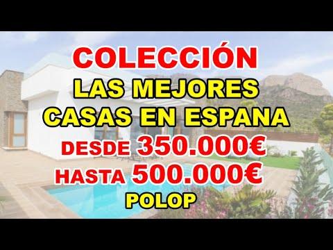 350-500000€/Casas en construcción en Polop/Una selección en video de MEJORES VILLAS en España