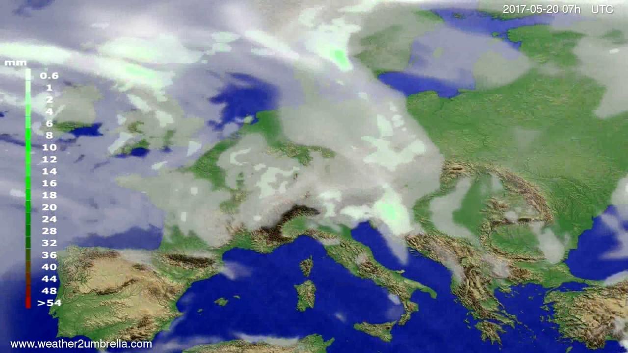 Precipitation forecast Europe 2017-05-16