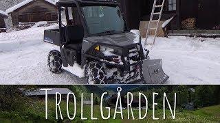 4. Polaris Ranger EV plowing some snow in Norway