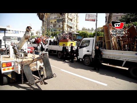 حملة أمنية ومرورية لإزالة الإشغالات بالمنيل