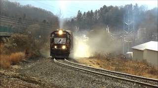 Waynesville (NC) United States  city images : NS P59 Pulls Hard Out of Waynesville NC 1/12/13