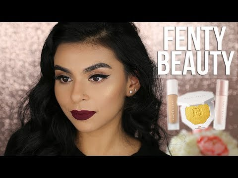 Fenty Beauty Foundation Trophy Wife Highlighter on Textured & Acne Brown/Olive … видео