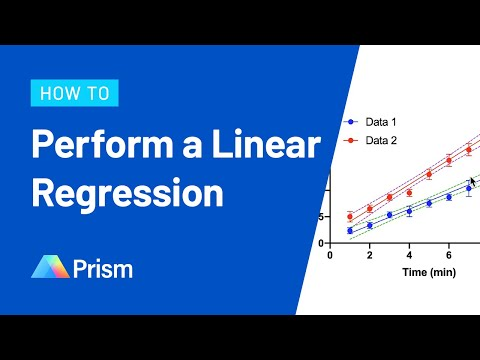 How to Perform Linear Regression in Prism