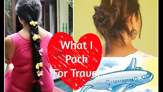 Traveling Hair Care Essentials| What To Pack For GREAT HAIR On Vacation| Sushmita's Diaries
