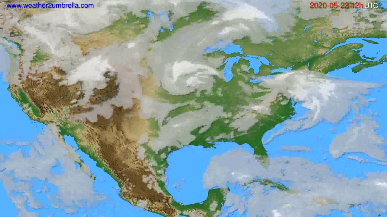 Cloud forecast USA & Canada // modelrun: 00h UTC 2020-05-23