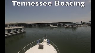 Boating on Lake Tellico, Tennessee. Fort Loudoun Marina.  West of Knoxville.Time Lapse
