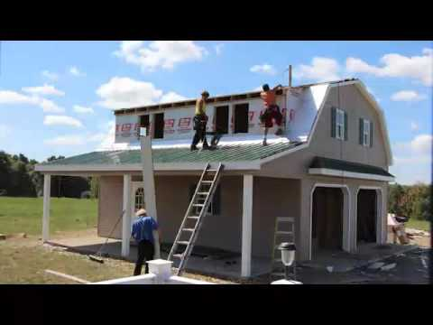 Stoltzfus Structures 2 Story Garage Build