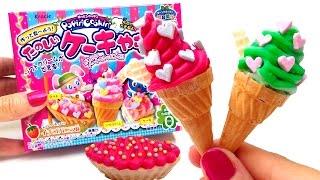 Kracie Popin' Cookin' Mini Ice Cream Shaped Candy たのしいケーキやさん How to Make Ice Cream Candy