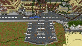 Minecraft: Apocalyptic City Let's Build #5 | Finishing up Parking lot