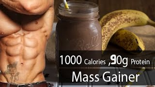 Homemade Mass Gainer | 1000 Calories | 90 g Protein | Fitness recipes