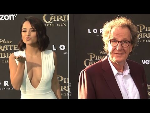 Becky G, Geoffrey Rush, And More Attending The Pirates Of The Caribbean Premiere