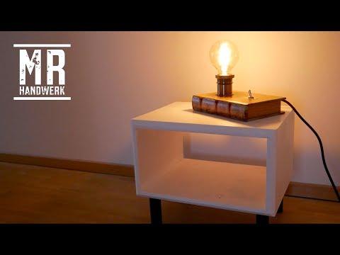 DIY BOOK LAMP - Buchlampe selbst gemacht - Anleitung deutsch/german