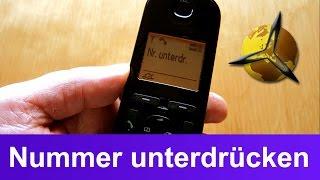 telefon anzeige nummer  telefonnummer unterdrücken