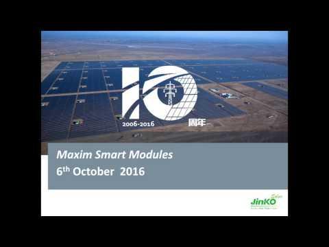 PROINSO Webinar Episode 6 - Jinko Solar Maxim Smart modules