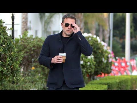 Ben Affleck Gets Camera Ready For Morning Coffee Run