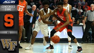 Syracuse vs. Wake Forest - Condensed Game | 2018-19 ACC Basketball