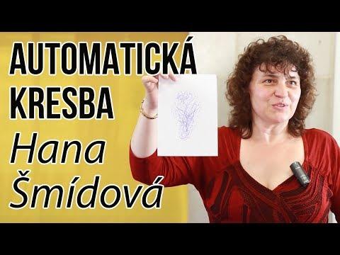 Přednáška na téma automatická kresba paní Hanky Šmídové na Ezoteře