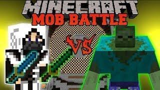NINJA VS ZOMBIES - Minecraft Mod Battle - Mob Battles - Mutant Zombie and Ninja Mods