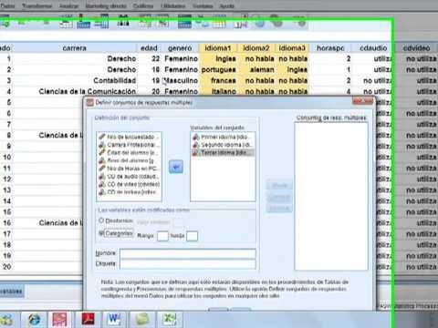 SPSS Tablas de contingencia y Respuestas multiples