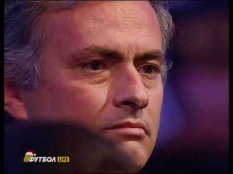 Mourinho commosso dopo il discorso di sneijder (видео)