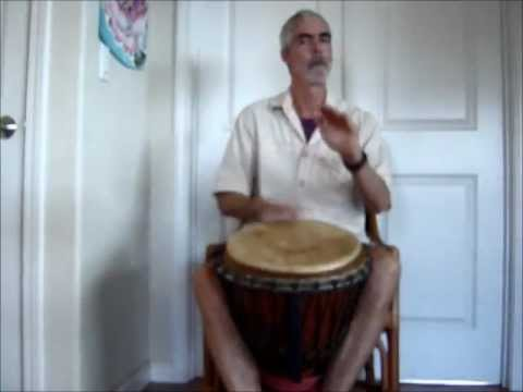 Basic 4/4 Djembe Accompaniment Rhythm: Kuku