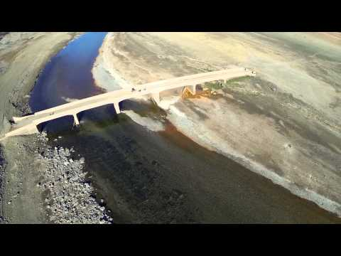 Lake - Hiddden bridge under folsom lake filmed by quadcopter and gopro 3. This is on the south fork american river. its up a couple miles from Mormon Island. Bridge...