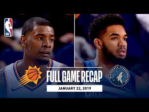 Video: Full Game Recap: Timberwolves vs Suns | Towns Stuffs The Stat Sheet In Phoenix