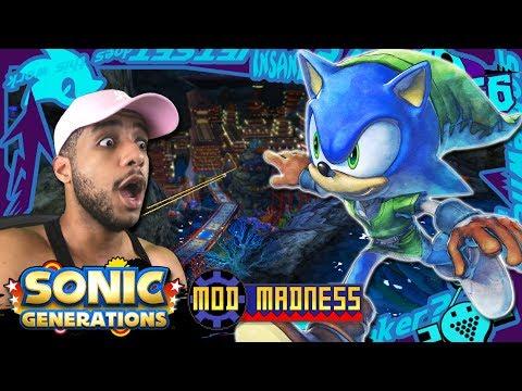 Sonic Generations PC - Aquarium Park w/Link Sonic! (4K 60FPS) Mod Madness! (видео)