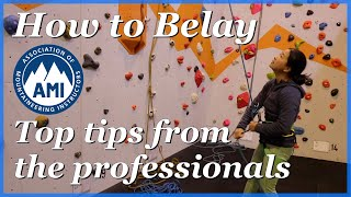 How to belay - bottom/ top rope belaying by The Climbing Nomads
