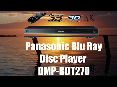 The Panasonic Blu Ray Disc Player DMP-BDT270 with a 4K Ultra HD upscaler, built-in Wi-Fi